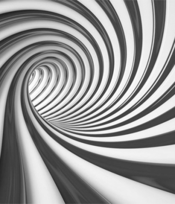 BLACK CURVED TUNEL